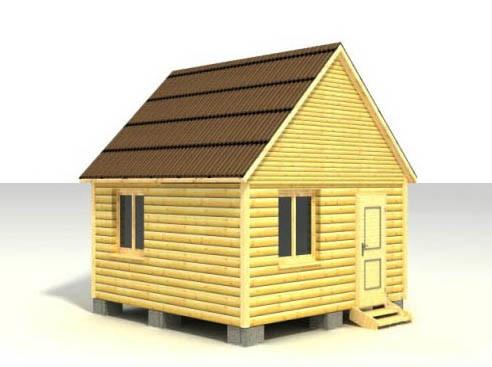 Дом 4x4 по проекту №1