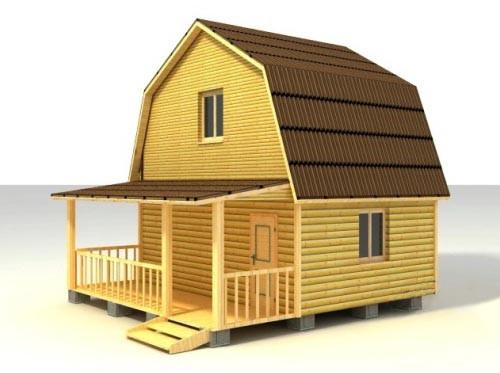 Дом 6х6 с крыльцом по проекту №10