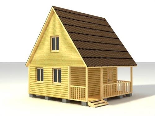 Дом 6х6 с террасой по проекту №11