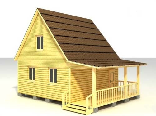 Дом 6х8 с крыльцом по проекту №21
