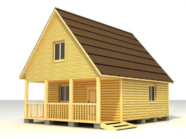 Дом 6х8 с террасой по проекту №28