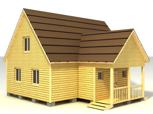 Дом 9х9 по проекту №32