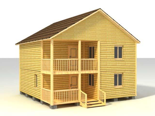 Дом 8х8 по проекту №46