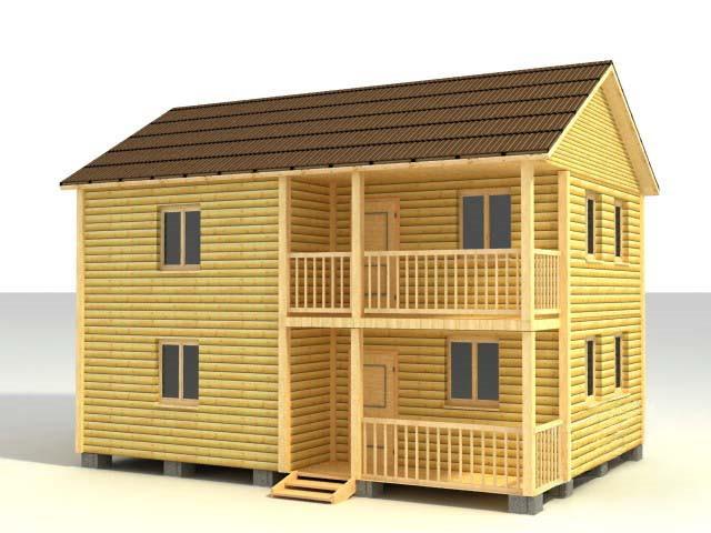 Дом 6х9 в два этажа по проекту №49