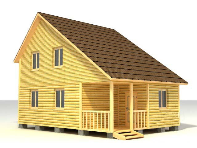 Дом 8х6 по проекту №52