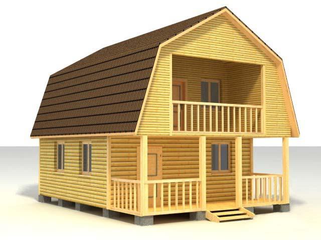 Дом 6х8 по проекту №55